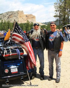 """Million Mile Man"" Dave Zien and Rally Host Mike Gustafson at Crazy Horse Monument"