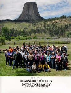 Group picture from Deadwood 3 Wheeler Rally ride to Devils Tower (c) Frogworks Photography